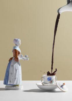 Winterliches mit dem Schokoladenmädchen von MEISSEN